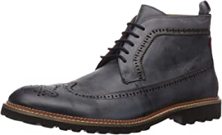 Men's Leather Extra Lightweight Ankle Boot with Wingtip Detail