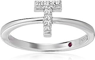 Roberto Coin Women's 001634AWLRXT Diamond Initial Ring, White, Size 7