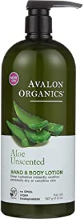 Avalon Organics Unscented Aloe Hand & Body Lotion, 32 oz.