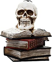 FRCOLOR Skulls On Books Ornament Lighted Halloween Party Decor Haunted House Ornament