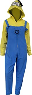 Despicable Me Women's Minion in Overalls Hooded One Piece Pajama