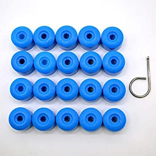 Blu 20 pezzi 17mm universale dado per auto dado bullone coperture viti tappi protezione pneumatici EVGATSAUTO Coprimozzo mozzo ruota