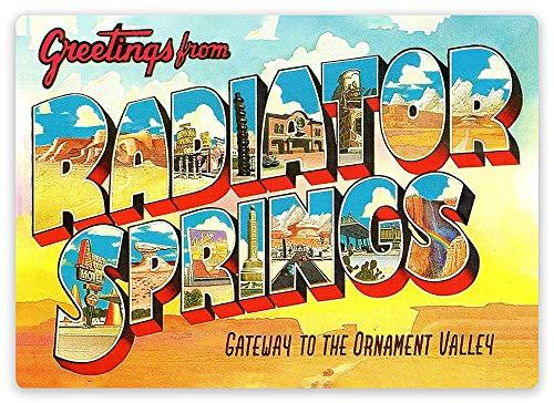 Radiator Springss Vintage metalen bord bord retro tinnen bord muur decor metaal poster deco bord yard pub geschenk