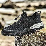 Aerlan Gym Shoes Lightweight Shoes,Zapatos Anti-Hobby para Hombres, Zapatos Deportivos de Malla para Senderismo-Black_48,Botas de montaña Deportivas