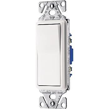 EATON 7503W-BOX 7500-Box Decorative Standard Rocker Switch, 120/277 Vac, 15  A, 3 Way, White - Wall Light Switches - Amazon.comAmazon.com