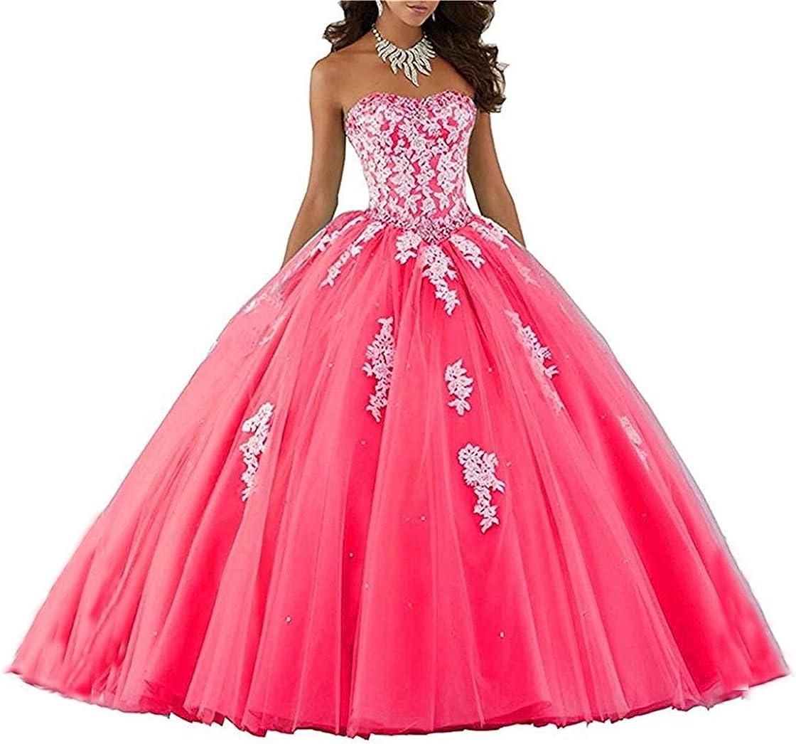XUYUDITA Lace piso de longitud vestido de baile Quinceanera vestido