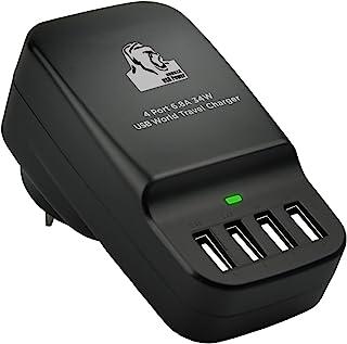 mbeat Gorilla Power 34W 4-Port Universal Portable USB Travel Device Charger with AU/US/UK/EU Adaptors