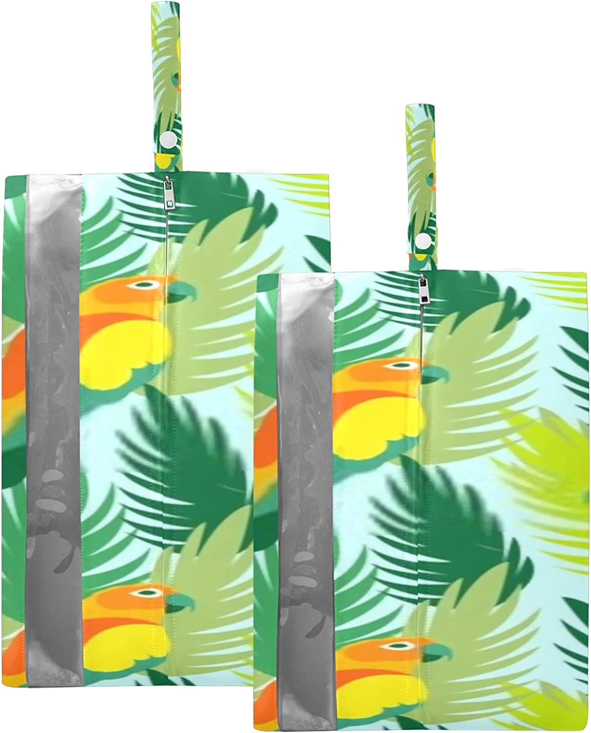 Waterproof New life Travel Shoe Bag Pack Jungle T Parrots Tropical Leaves List price