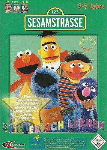 1 2 3 Sesamstraße Spielerisch Lernen, 3-5 Jahre, 3 CD-ROMs Spielen mit Elmo; Such- und Lernabenteuer; Elmo in Grummelland. Für Windows 98, ME, XP