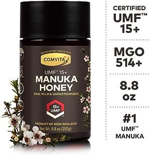 Comvita Certified UMF 15+ (MGO 514+) Raw Manuka Honey I New Zealand's #1 Manuka Brand I Authentic, Wild, Unpasteurized, Non-GMO Superfood I Super Premium Grade I 8.8 oz