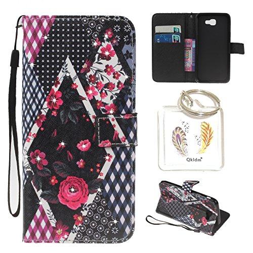 für Galaxy A5 (2016) / SM-A510 PU Leder Silikon Schutzhülle Diamant Handy case Book Style Portemonnaie Design für Samsung Galaxy A5 (2016) / SM-A510 + Schlüsselanhänger (TTY) (4)