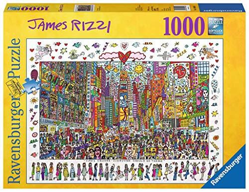 Ravensburger - 19069 - Puzzle Classique - Times Square - James Rizzi - 1000 Pièces