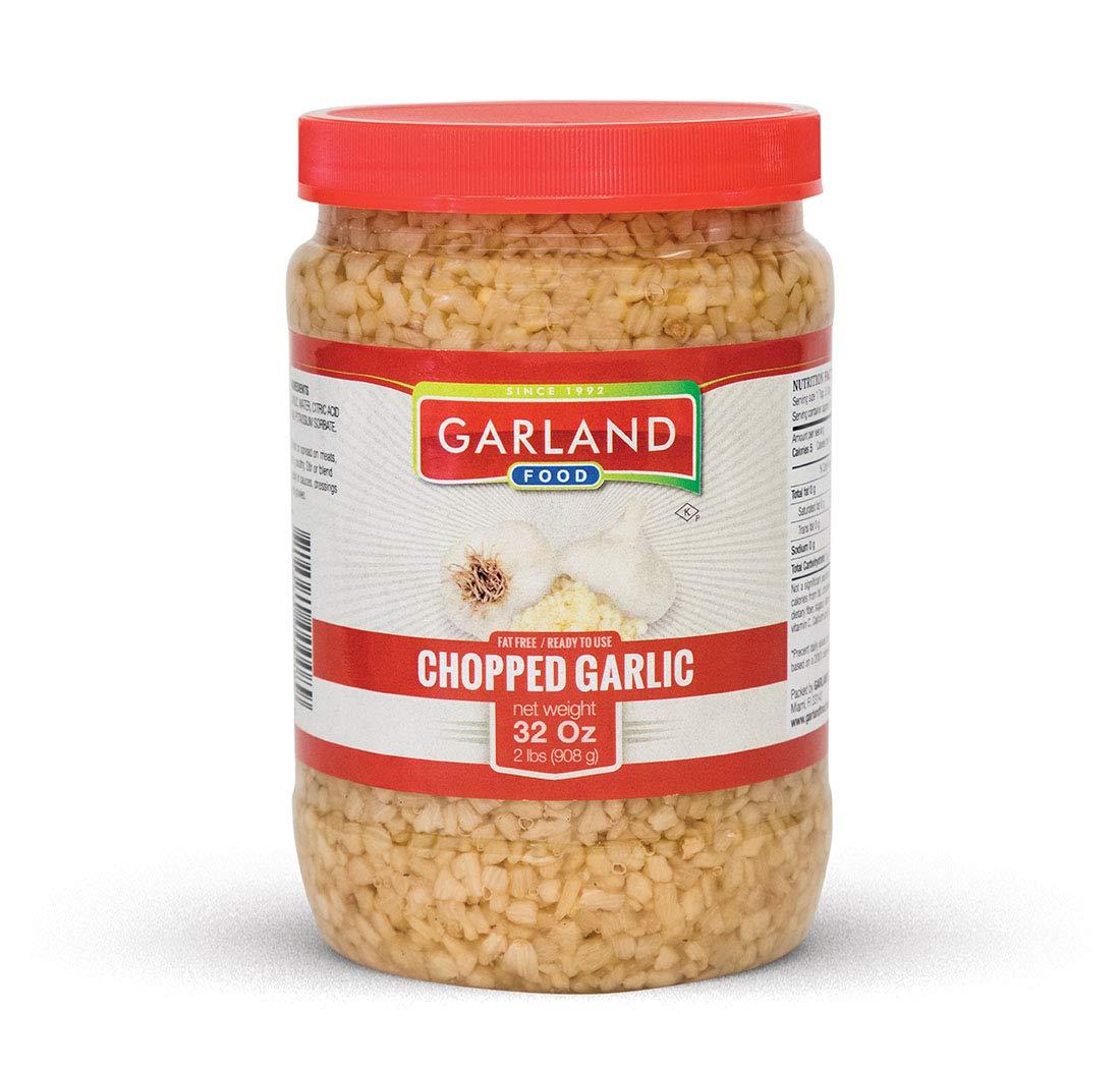 Premium Chopped Garlic in Water 32 Ounces - LARGE Jar - - NEW PACKAGING