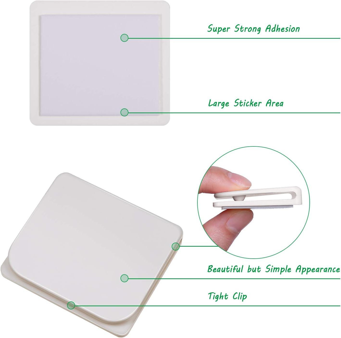 Jetec Shower Splash Clip Self Adhesive Shower Curtain Clip Windproof Stop Protect Clip Anti-Splash Shower Curtain Clip for Home Bathroom 12