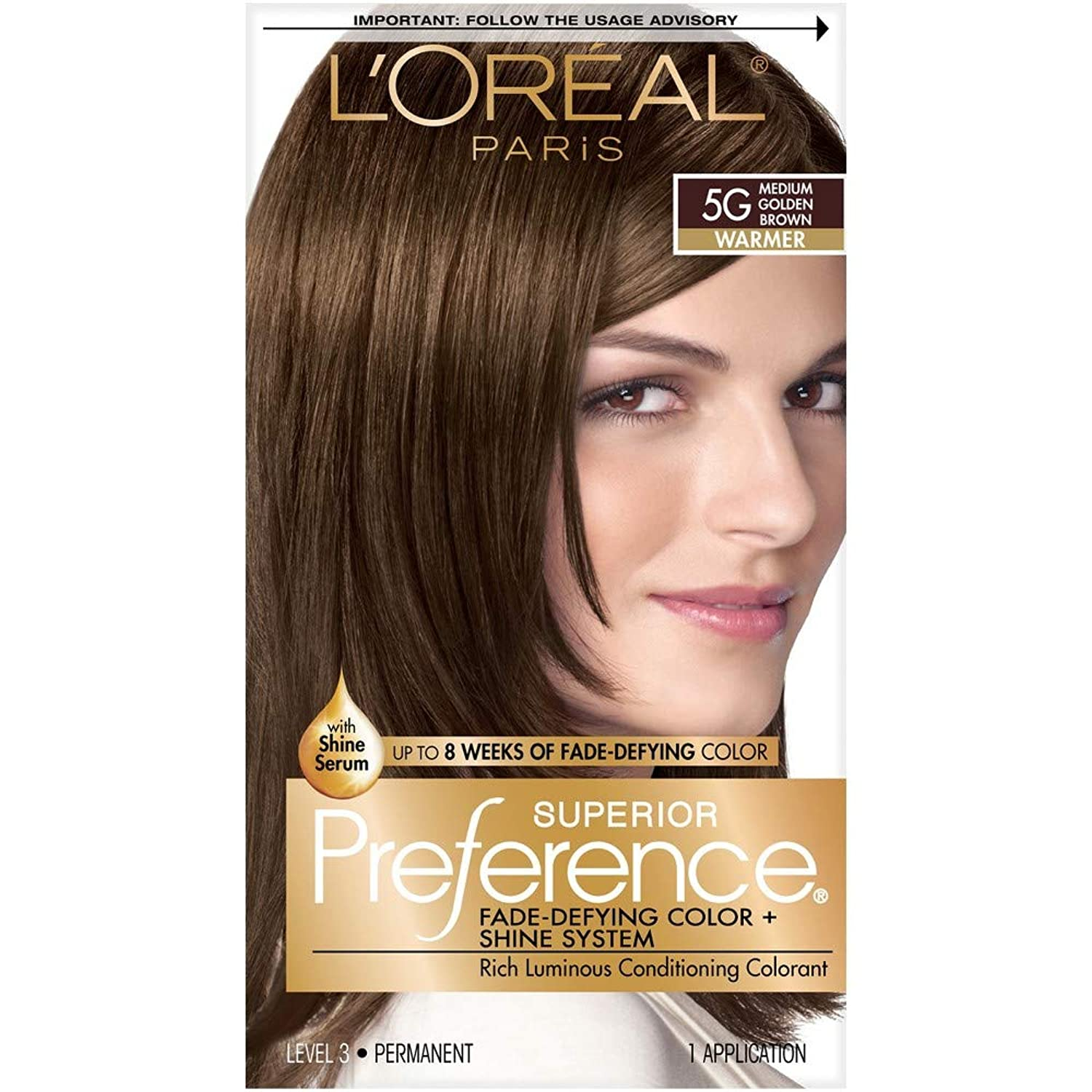 カストディアンビルはい海外直送肘 LOreal Superior Preference Hair Color 5G Medium Golden Brown, Medium Golden Brown 1 each
