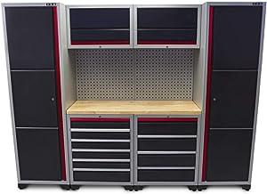 HBM by Tools.de - Caja de herramientas con cajones (263 x 51 x 204 cm)