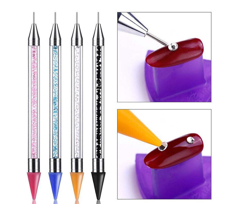 没頭する可塑性楽しむネイルアートドットペン ,ネイルデザイン用 マニキュア ドット ツールセット ネイルアートペン 塗装 4点セット