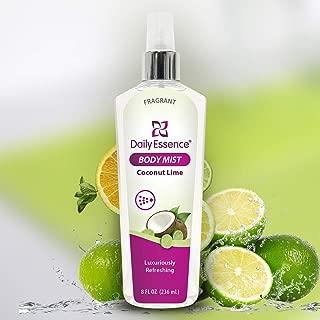 Daily Essence Body Mist, Coconut Lime, 8 Oz
