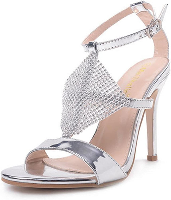 Lh yu Women Sandals Ladies Low Mid High Heels Rhinestones Bridal Sandals Strappy Kitten Heeled Stiletto shoes Wedding Evening Party Prom