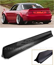 Replacement for 1995-1998 Nissan 240SX S14 | EOS Rocket Bunny Style Fiberglass Primer Black Rear Trunk Lid Wing Spoiler