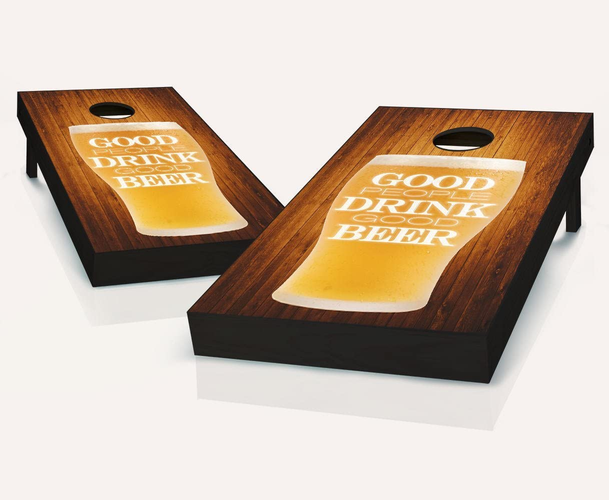 Good Gorgeous People Finally popular brand Drink Beer Cornhole Regulation Boards Game Size