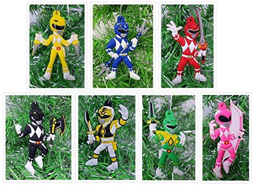 Power Rangers Christmas Tree Ornament Set - Unique Shatterproof Plastic Design