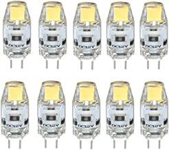 LED Lamp 10Pcs G4 LED 1.5W 0705 COB SMD LED Bulb 12V Crystal Bulb LED Replacement of 20W Halogen Lamp Green Product (Color...