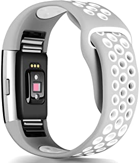 GeekSpark Bands Compatible for Fitbit Charge 2, Replacement Accessory Breathable Wristbands with Air Holes Compatible for Fitbit Charge 2 HR