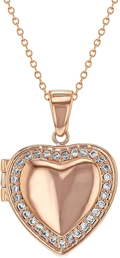 In Season Jewelry Rose Gold Plated Cubic Heart-Sh online shop Safety and trust Zirconia Clear