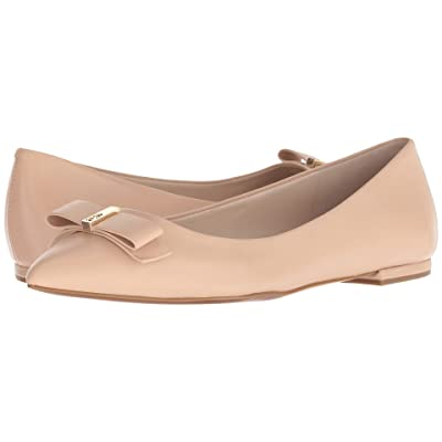 Cole Haan Elsie Bow Skimmer Ballet Flat (Nude Leather) Women