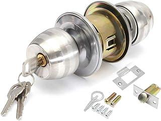 manija de seguridad interior para trastero pomo de acero macizo ba/ño 607 dormitorio Pomo de puerta de privacidad con bola negra mate