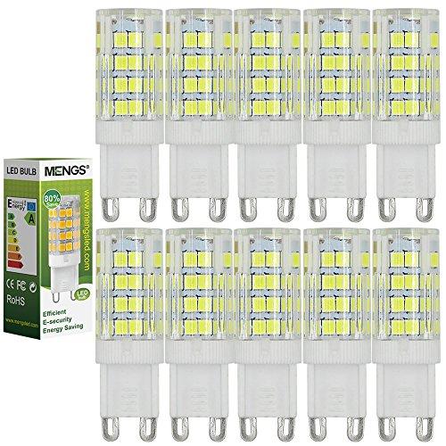 MENGS pack de 10 G9 Lampadine a LED 5W (40W Lampada Halógena Equivalente) Lampada LED Bianco Freddo 6500K, 480LM, AC 220-240V Luce a LED Lampadine a risparmio energetico
