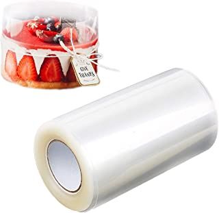 Cake Collars Transparent Acetate Sheets Roll(4.7 x 394inch),Clear Cake Strips, Edge Cake Tools for Chocolate Mousse Baking...