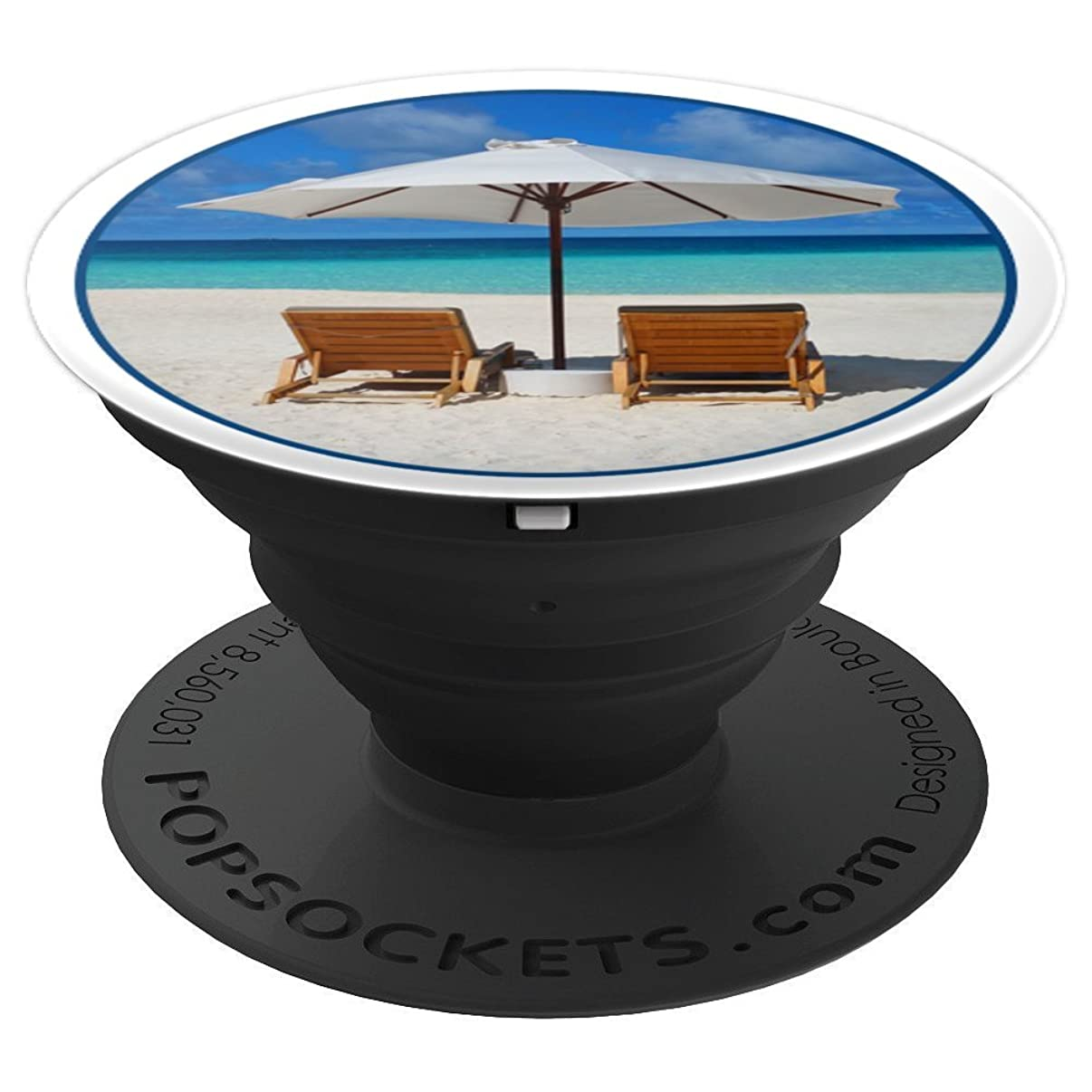 Beach Chair And Umbrella Vacation - PopSockets Grip and Stand for Phones and Tablets