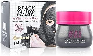 Washami Black Mask with Natural Charcoal, Spa Treatment at Home, 160g