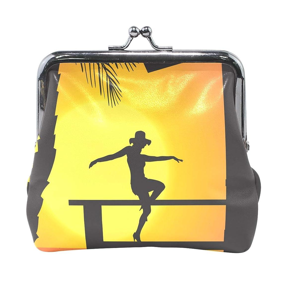 想定する構造的あえぎがま口 財布 口金 小銭入れ ポーチ 踊り 日暮れ 女 ANNSIN バッグ かわいい 高級レザー レディース プレゼント ほど良いサイズ