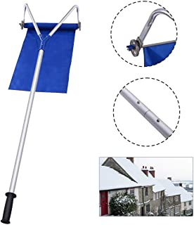 YANGLIUYL Roof Snow Rake Removal Tool with Adjustable Telescoping Handle Roof Snow Rake Removal Tool 20 Ft Extendable Handle with 4 Sections