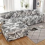 YUIOLIL Funda Protectora elástica para sofá en Forma de L para Sala de Estar Funda Protectora Antideslizante para sofá Funda Protectora para sofá para Mascotas A4 2 plazas