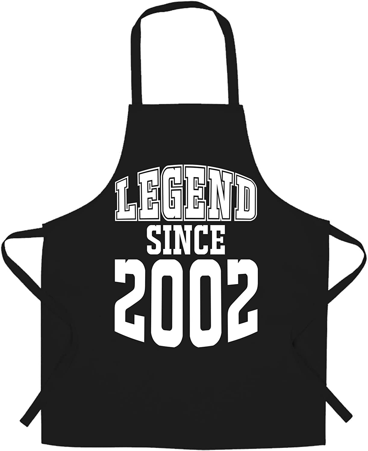 18th Birthday Chefs Apron Legend Since 2002 Eighteen Years Old Gift Idea Black One Size