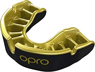 OPRO Gold Level Mouth Guard | Gum Shield for Rugby, Hockey, Wrestling, and Other Combat and Contact Sports - 18 Month Dental Warranty