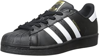 adidas Originals Superstars Running Shoe, White/Black, 6 Medium US Little Kid