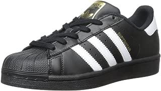 adidas Originals Superstars Running Shoe, White/Black, 4 Medium US Little Kid
