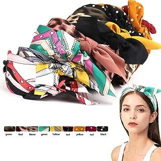 9 Pack Wide Headband for Women,Turban Headbands Vintage Floral Knotted Headbands Wide Headband Girls Hair Accessories