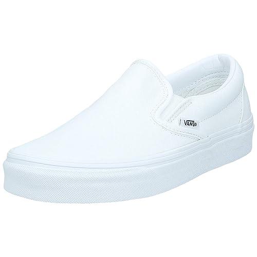 White Leather Vans: Amazon.com