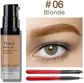 6 Colors Henna Eyebrow Gel Waterproof Tint Makeup Brush Set Brown Enhancer Eye Brow Dye Cream Make Up Paint Cosmetic 06 Blonde
