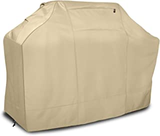 Leader Accessories Waterproof BBQ Cover 600D Heavy Duty Barbecue Gas Grill Cover for Weber, Brinkmann, Char Broil(64 in.L x 24 in.W x 48 in.H, Beige)
