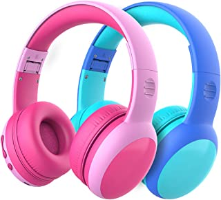 gorsun Bluetooth Kids Headphones with 85dB Limited Volume, Children's Wireless Bluetooth Headphones, Foldable Bluetooth Stereo Over-Ear Kids headsets - 2 Pack