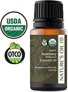 Best Rosemary Verbenone Essential Oil Pure Certified Organic Therapeutic Grade 10ml