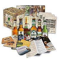 Ensemble de 6 bières et cadeaux avec 6 bières de brasseries allemandes (les meilleures bières allemandes), y compris coffret cadeau et COUVERTURE DE BIÈRE GRATUITE, fiches d'information sur la bière et instructions de dégustation. 🍻 LES SPÉCIALITÉS D...