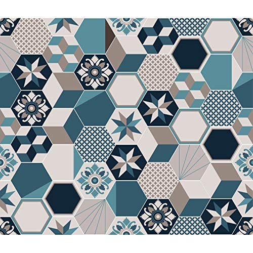CMP - Adhesivo decorativo para azulejos de aluminio Exa, 70 x 60 cm, color azul